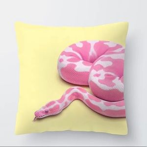 Quality Pink Snake Accent Pillow